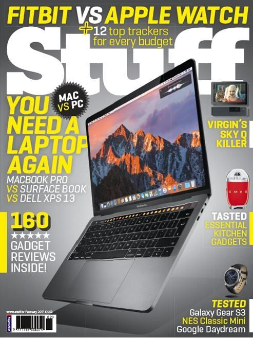 Laptop megatest, fitness bands for all and much more in the Feb issue of Stuff – out now!  This month, we've spent even more time than usual slaving away in front of a bank of computers, not only to generate the words that fill the hallowed pages, but to find out which out of five premium laptops is the world's greatest. Is it Apple's new Touch Bar-toting MacBook Pro? Razer's frag-friendly Blade Stealth? Microsoft's transforming Surface Book? Or a skinny offering from Dell or HP?  If those…