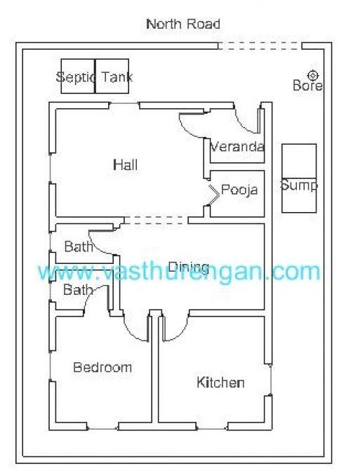 Vastu plan for north facing plot 500 678 small - Vastu shastra home design and plans ...