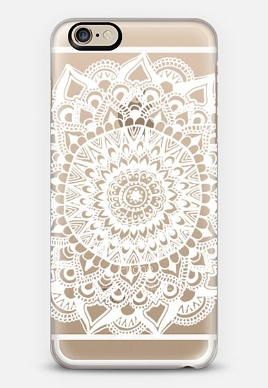 White Tribal Lace Mandala on Clear by Tangerine-Tane | @casetify