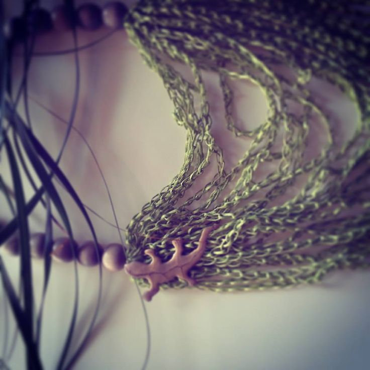 "Necklace ""Rain Forest Lizard"" by Stella Kyriakou Creations"