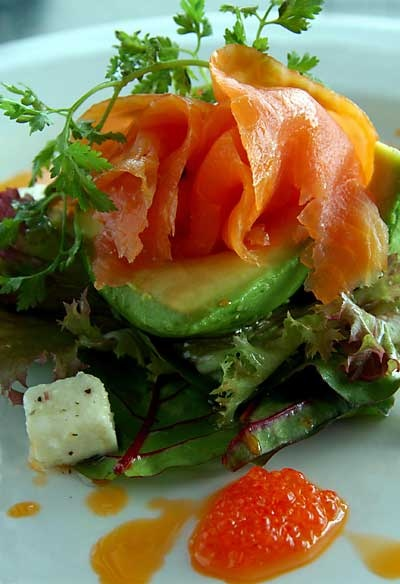 for the salmon lovers, fresh salmon salad