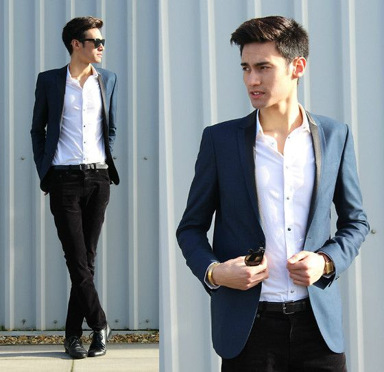 Dress shirt with blue blazer - All Pictures top