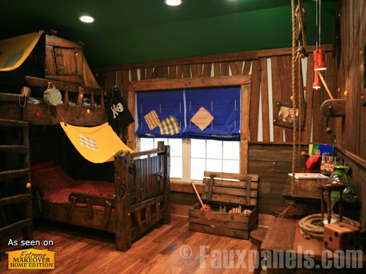 ... pirate theme on Pinterest  Boat beds, Pirate ship bed and Pirates