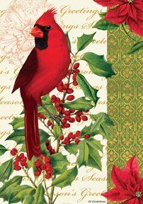 Cardinal & Holly - 28 Inch By 40 Inch Large Decorative Flag - Winter Christmas by Custom Decor. $10.00. Optional Mailbox Makeover Available. Durable 300 Denier Fabric. Made in USA. 28 Inch X 40 Inch Large Decorative Flag - Standard Size Banner. Dye sublimation Print - Bold and Vibrant Colors. This beautiful flag will brighten your home and garde. Made by custom Decor in the USA.. Save 63%!