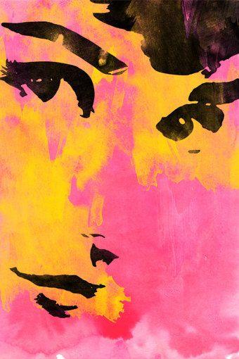 audrey hepburn, retro, poster, print, digital illustration, wall decor, home decor, movie poster, etsy