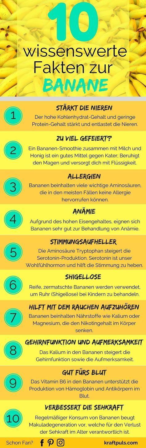 10 wissenswerte Fakten zur Banane: Darum solltest du mehr Bananen essen (Infografik) – Margitta Weber