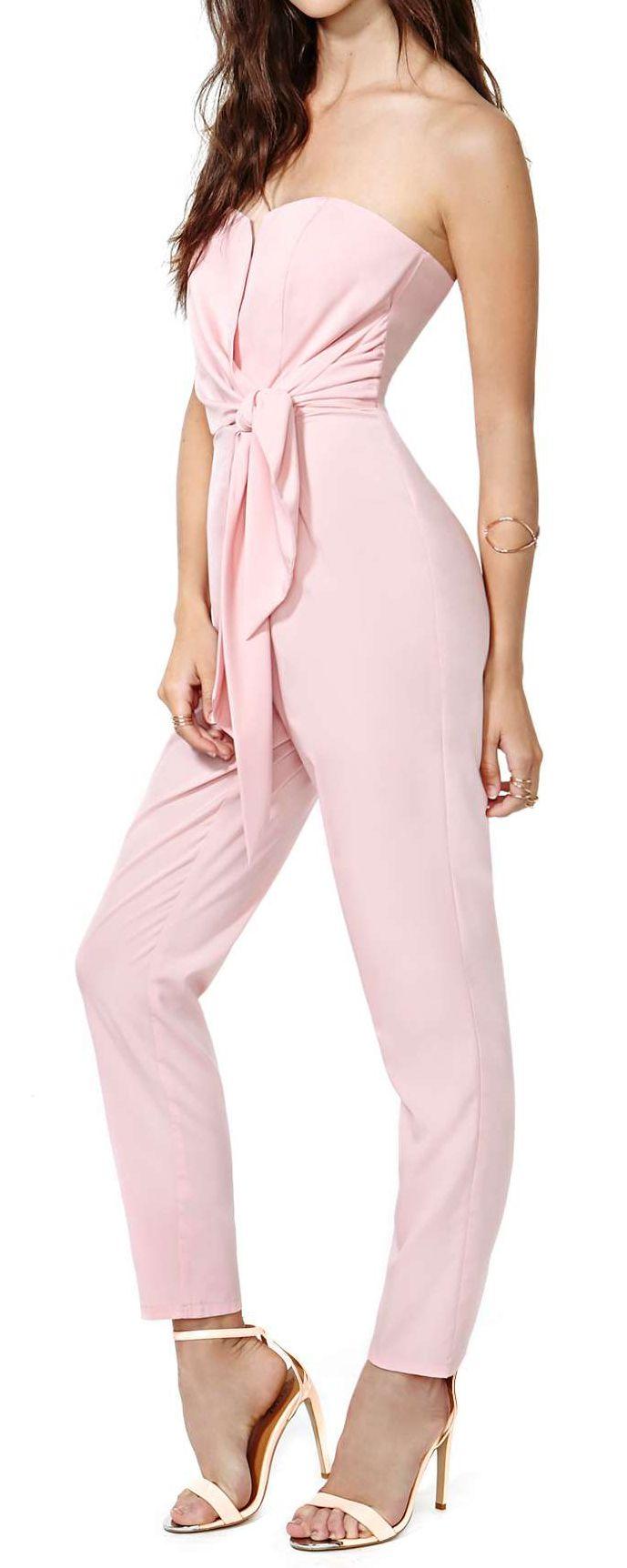 Petal pink jumpsuit