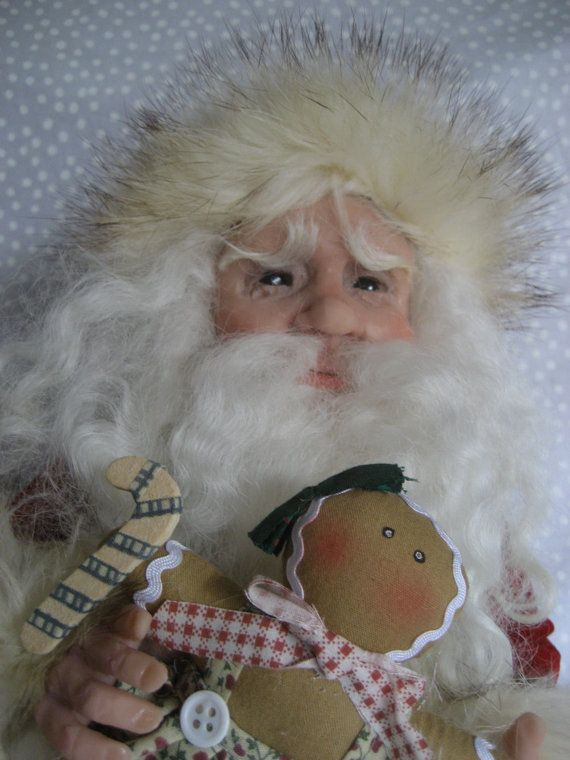 SANTA CLAUS !! ~ Terry Richards ~ One-of-a-Kind Art Doll   **  Christmas ** by CreativeIndulgences on Etsy https://www.etsy.com/listing/217166507/santa-claus-terry-richards-one-of-a-kind