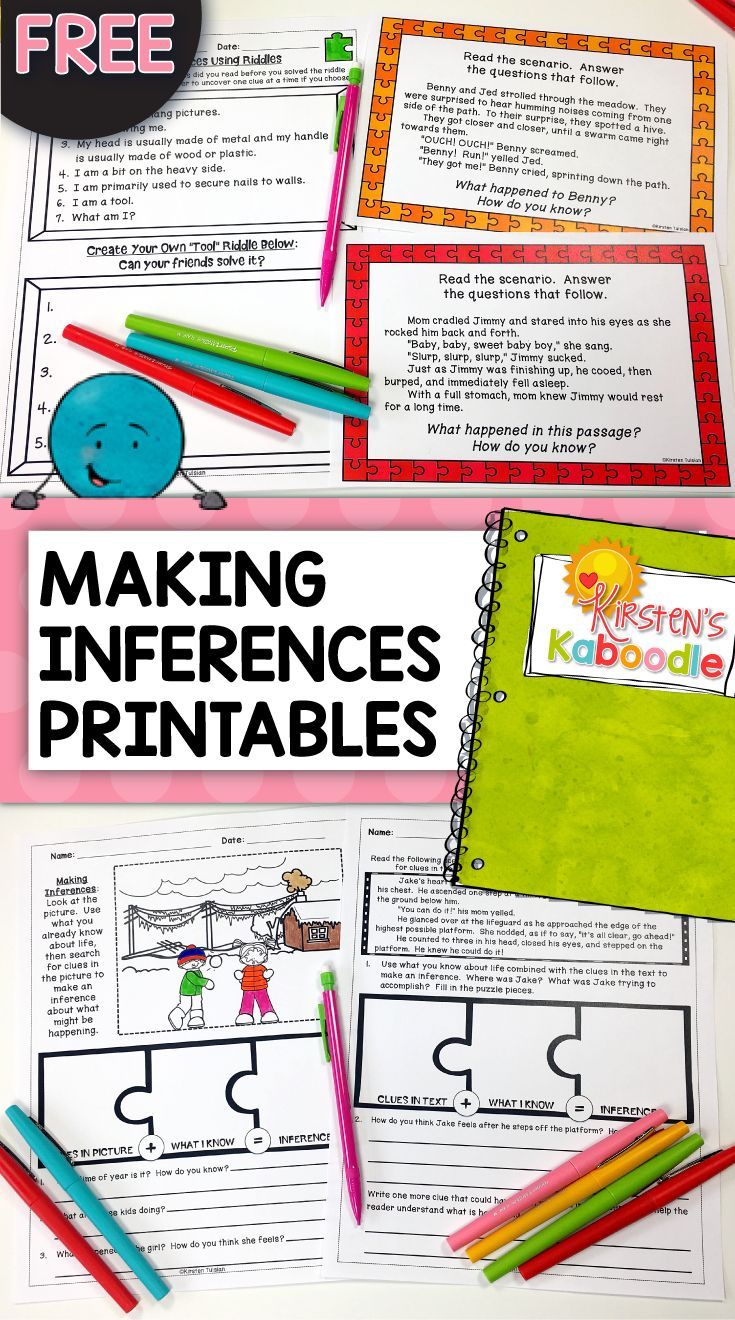 Are You Teaching Your Students About Making Inferences? This Inferencing  Product Includes Various