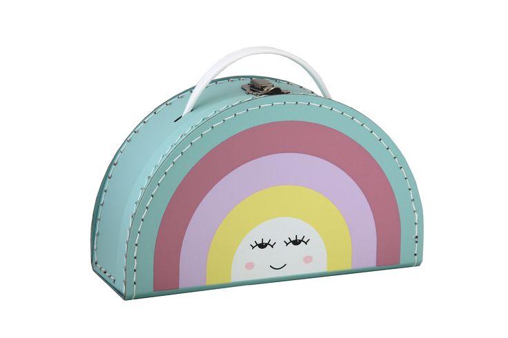 Children´s #suitcase with #rainbow by #Kazeto