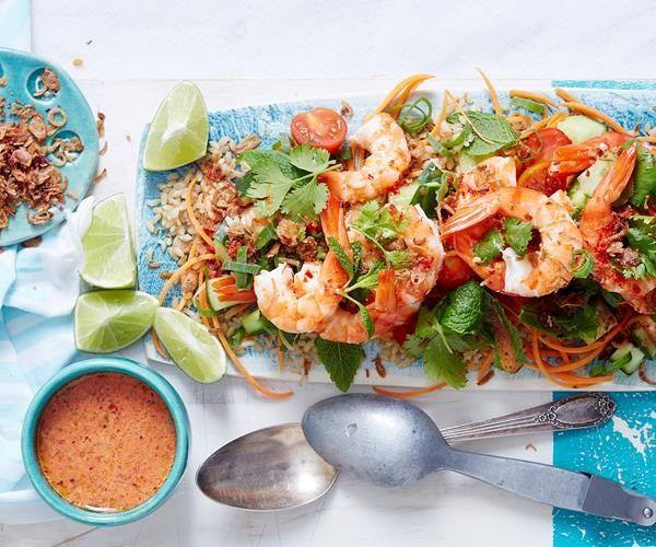 Hot and Sour Thai Prawn Salad Recipe recipe | Food To Love