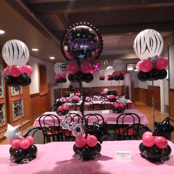 9 best Zibra print balloon centerpiece decor images on Pinterest