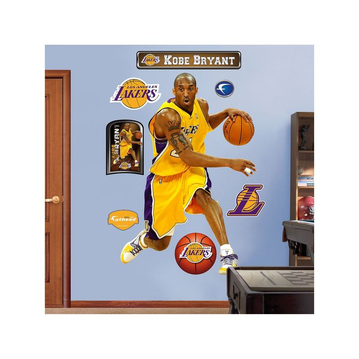 Fathead Los Angeles Lakers Kobe Bryant Wall Decals, Multicolor