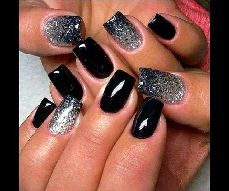 Zwart zilver glitter