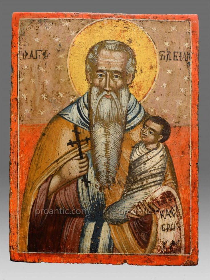 Icon Saint Stylianos 18th Century