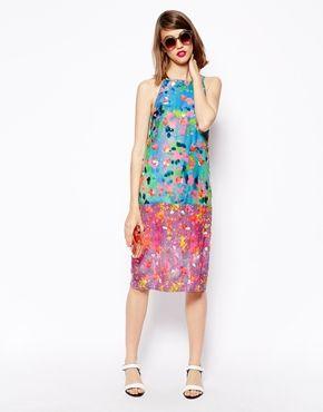 Enlarge ASOS Printed Embellished Dress