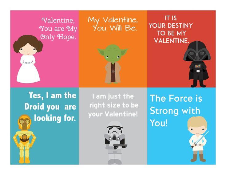Free Printable Star Wars Valentineu0027s Day Cards