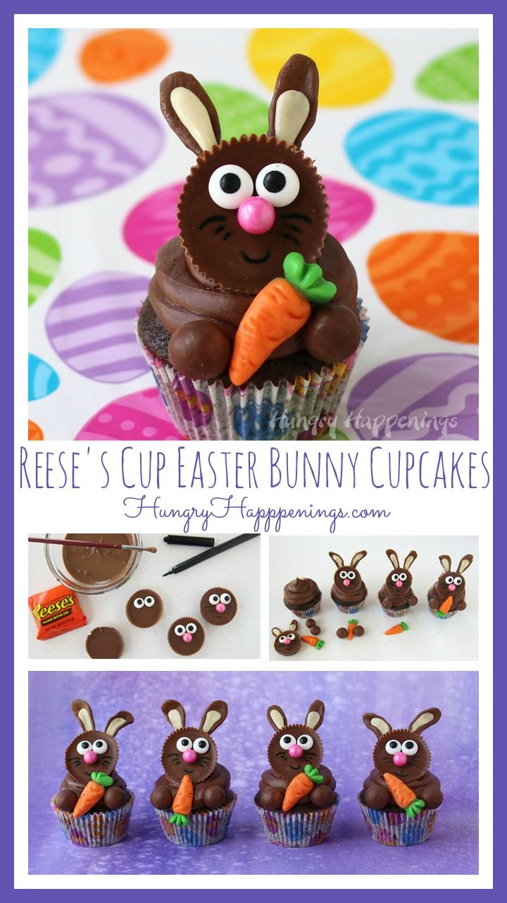 No Easter would be complete without some chocolate bunnies so I crafted these Reese's Cup Easter Bunny Cupcakes that you can make and share with friends and family.