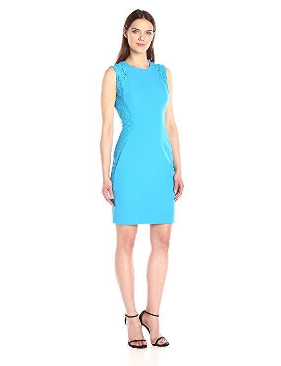 e2851aee03a Anne Klein Women s Lace and Crepe Combo Sheath Dress