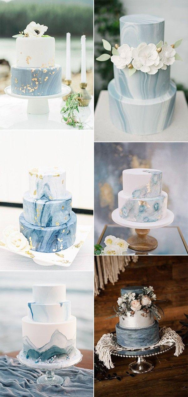 Schattierungen von blauen Hochzeitstorte Ideen #obde #blueweddingcolors   – Hochzeit