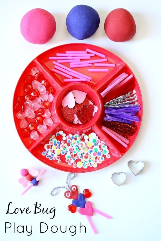 Love Bug Play Dough Valentine's Day Activity for Kids