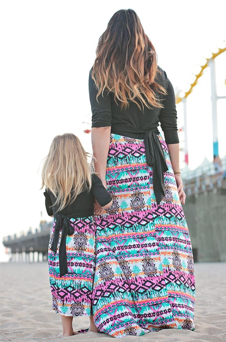 Tahitian Sunset Mommy and Me Maxi Dress, Be Inspired Boutique