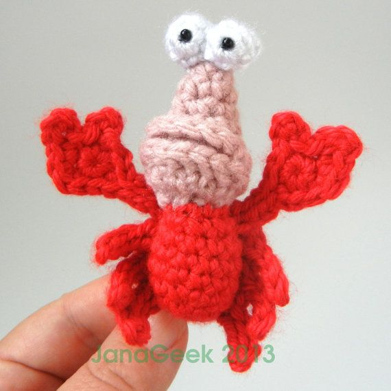 Little Mermaid Crabby Friend Crochet Pattern by JanaGeek on Etsy, $1.50