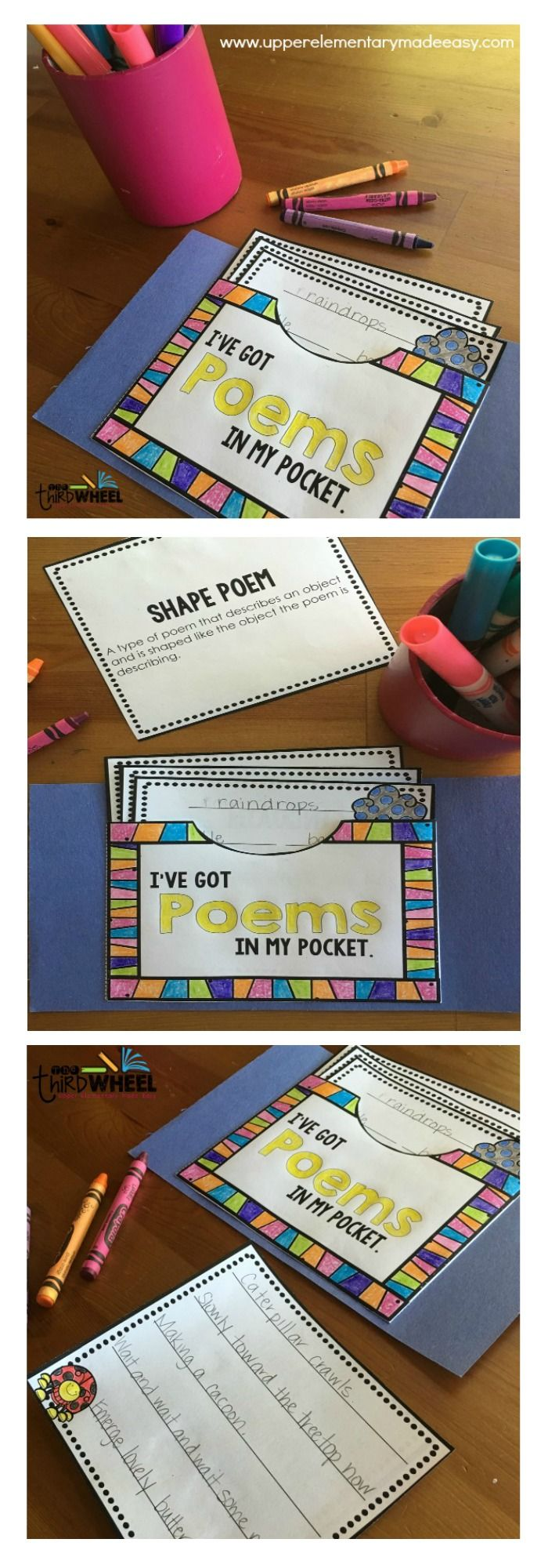 This spring poetry pocket is perfect for our poetry month celebration. What a great interactive bulletin board idea for our April bulletin boards!