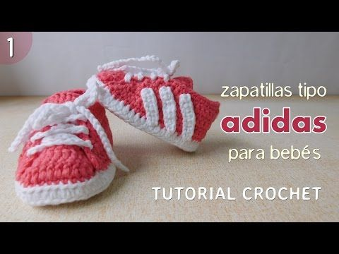 Zapatillas Adidas a crochet para bebé (Parte 1 de 2). Link download: http://www.getlinkyoutube.com/watch?v=bGEfPUxezsQ