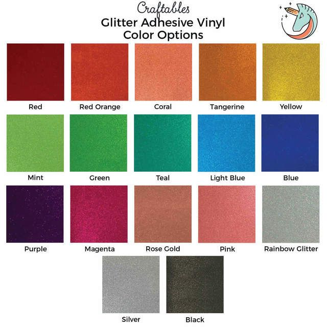 Glitter Vinyl Sheets For Cricut Silhouette Translucent Permanent Adhesive Vinyl By Craftables In 2020 Adhesive Vinyl Sheets Glitter Vinyl Adhesive Vinyl