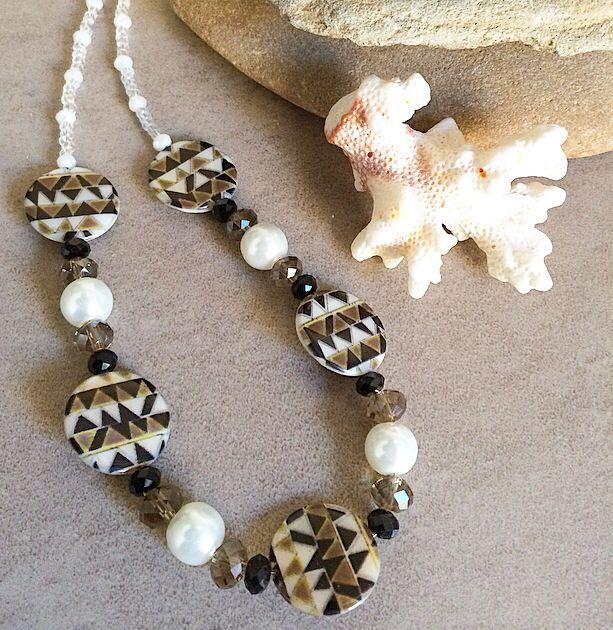 Art Deco inspired necklace #design #unique #jewellery #handmade #GGJewellery