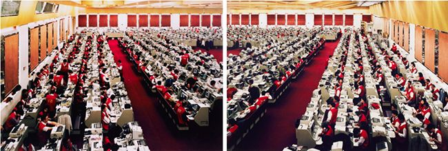 "24. Andreas Gursky: ""Hong Kong, Stock Exchange (Diptych)"" (1994) $744,063 Sotheby's London, June 26, 2013"