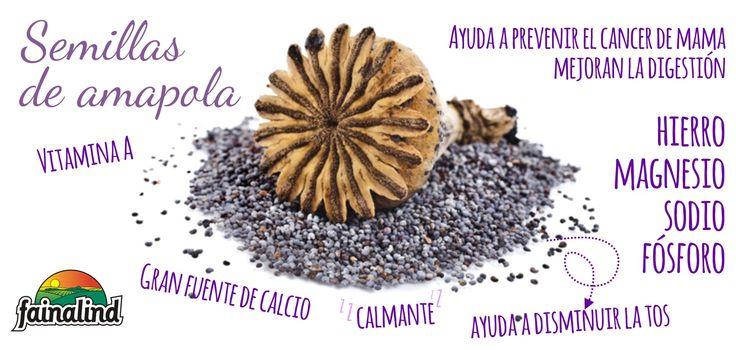 Los beneficios y propiedades de las semillas de amapola **Fainalind**