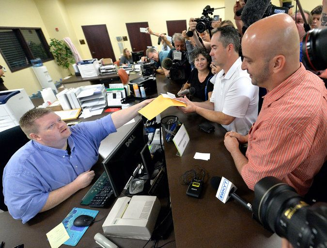 New York Times: Sept. 4, 2015 - With boss in jail, deputy clerks in Kentucky issue gay marriage licenses
