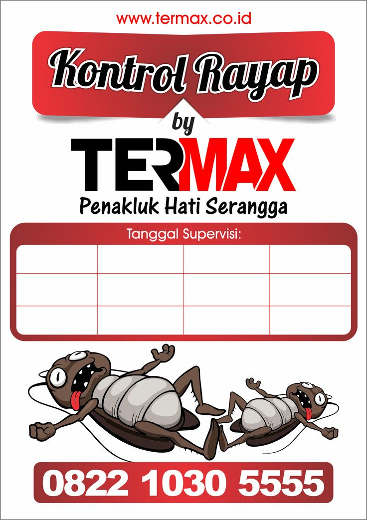 Stiker Controling TERMAX.CO.ID Pembasmi Rayap dan Serangga 1