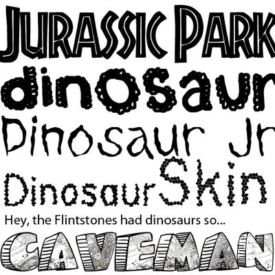 Free Dinosaur Fonts