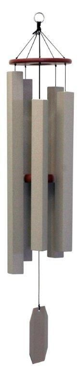Amish Handcrafted Textured Taupe Alpine Whisper Wind Chime