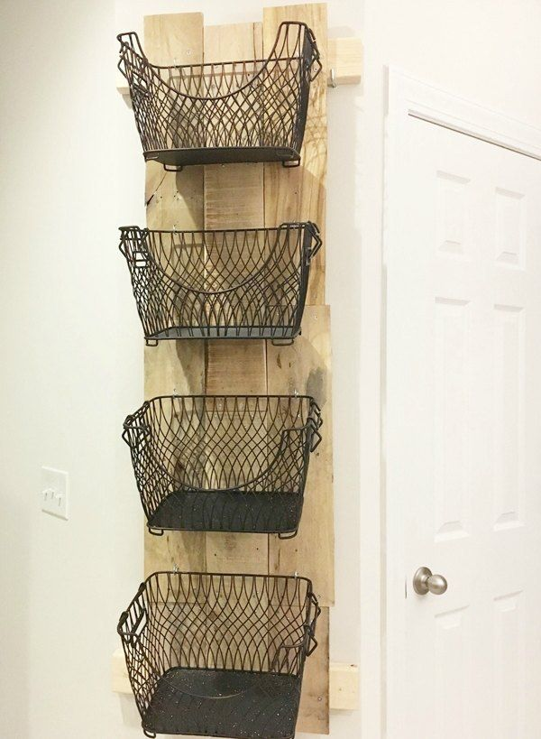 How To Build A Diy Wall Mounted Fruit Veggies Holder Diy Wall Baskets On Wall Diy Furniture Building