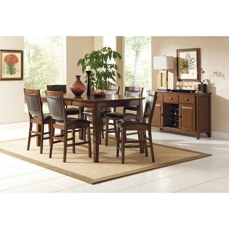 Vancouver Counter Height Dining Table Chair Set By Steve Silver