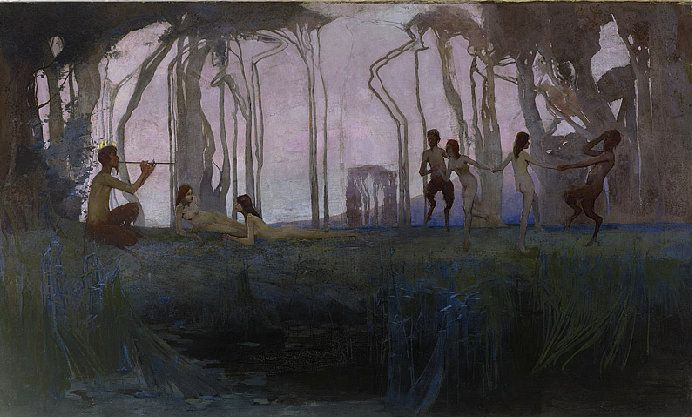 Sydney Long, Pan, 1889.