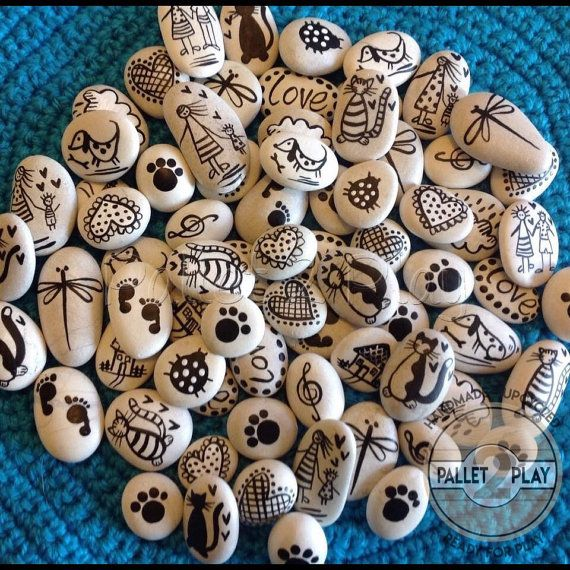 Handpainted Story Stones by Pallet2Play on Etsy