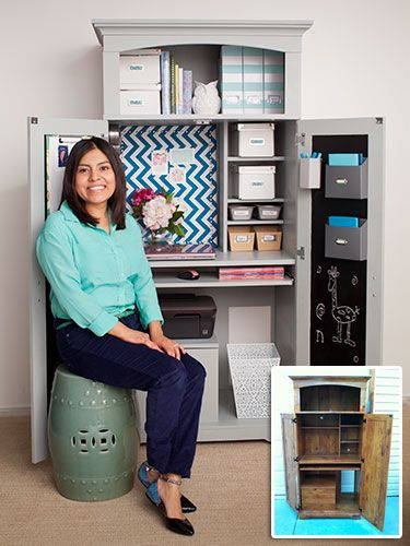 See how Claudia used magnets to help #organize and maximize her tiny #office space!