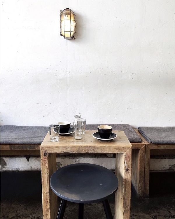 ~ bench + light + table ~