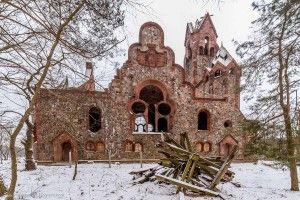Były ewangelicki kościół w Pisarzowicach