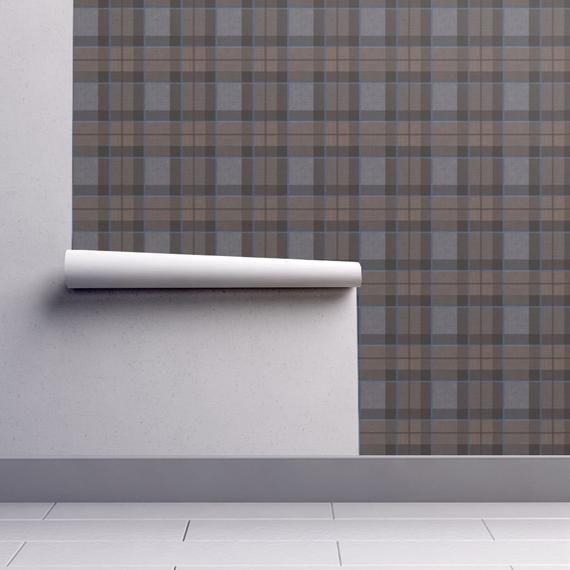 Fraser Plaid Wallpaper Fraser Tartan Plaid By Etsy Plaid Wallpaper Wallpaper Self Adhesive Wallpaper
