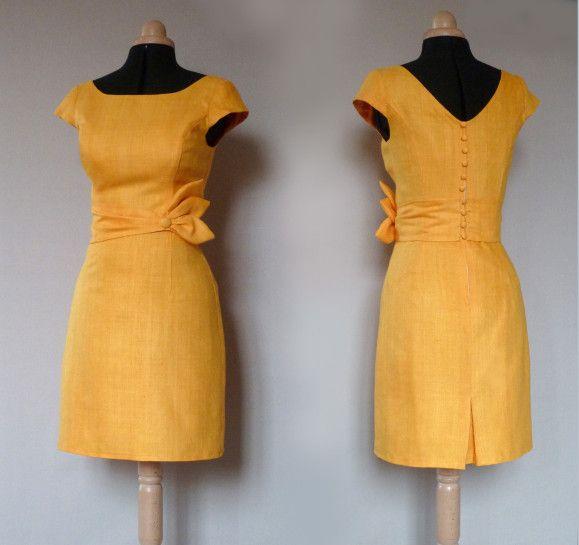 http://www.annedubois-igwana.com/article-robe-en-soie-jaune-d-or-114835426.html robe cocktail soie jaune d'or Dorothée 1