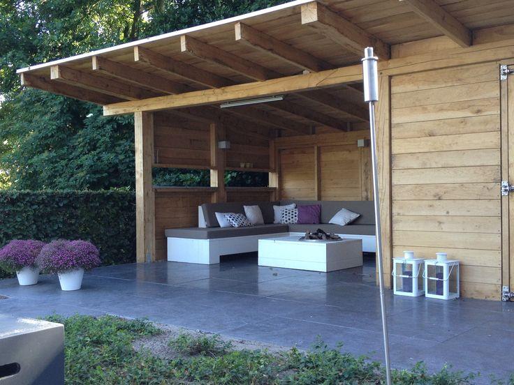 Tuinhuis met veranda - gardenhouse with fireplace
