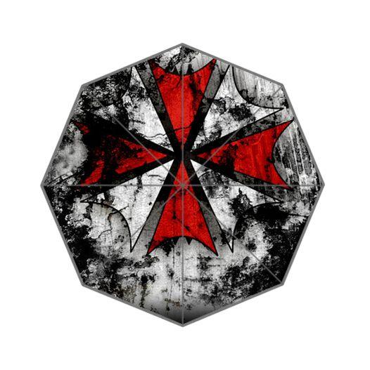 Fashion Design Umbrella Custom Resident Evil Symbol  Auto Foldable Umbrella For Man And Women Free Shipping UPC-019 #Affiliate