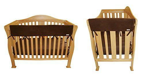 Brown Fleece 3 Piece CribWrap Convertible Crib Rail Cover Set
