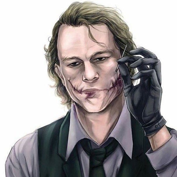 Heath Ledger's Joker fanart